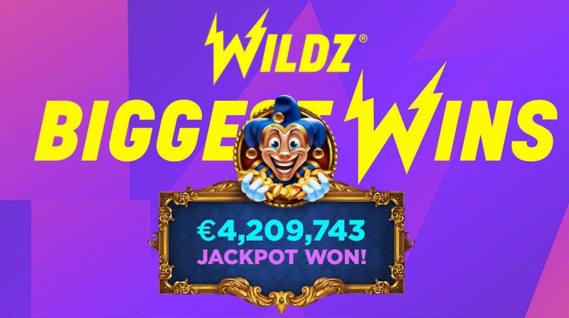 Jackpot won in Empire Fortune game in Wildz Casino