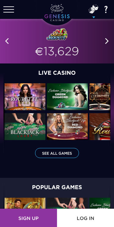Genesis Casino App Download For Android Iphone 2021